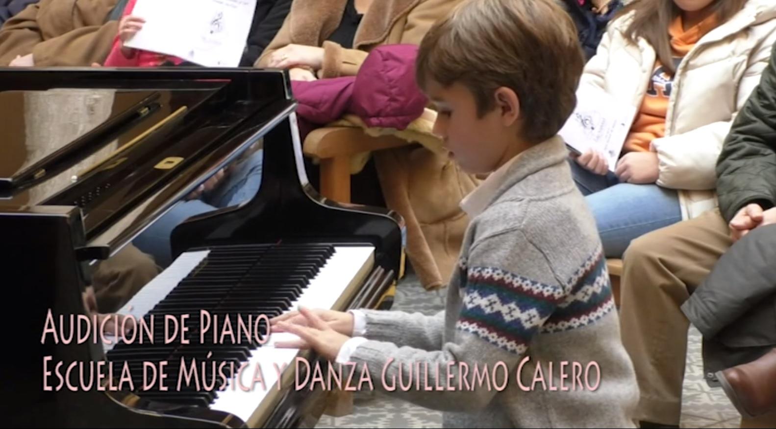 Audición de Piano de la Escuela de Música y Danza Guillermo Calero