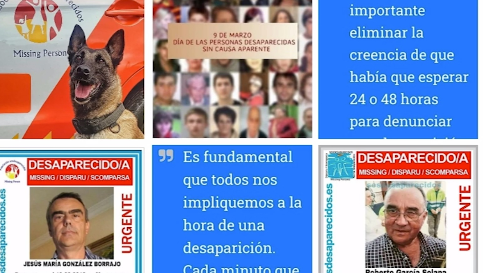 9 de marzo Día de las personas desaparecidas sin causa aparente