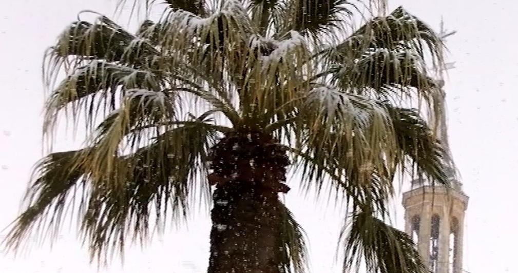 Nevando en Manzanares